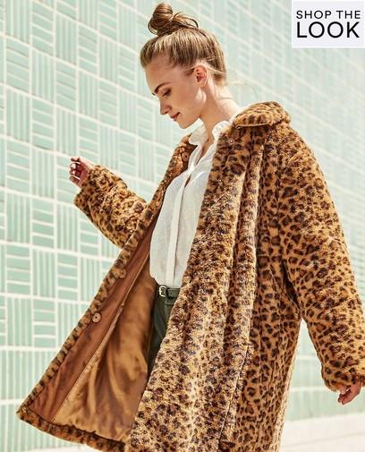 Fashionable? Een opvallende jas met print!